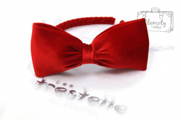 BEAUTIFUL RED CLASSIC HEADBAND WITH BOW